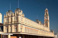Train station in Sao Paulo. External architecture of the train station in Sao Paulo Stock Photo