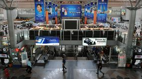 Train Station Scene - KL Sentral in Kuala Lumpur Royalty Free Stock Image
