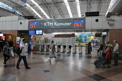 Train Station Scene - KL Sentral in Kuala Lumpur Royalty Free Stock Images
