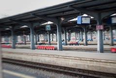 Train station scenery Royalty Free Stock Photography