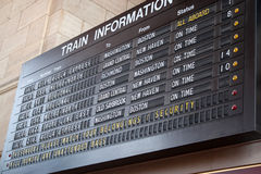 Train Station Schedule Board Royalty Free Stock Photo
