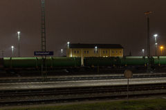 Train station of Schwandorf Stock Images