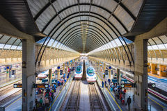 Train Station in Seville Spain Royalty Free Stock Photography