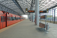 Train station Sheremetyevo, Moscom stock image