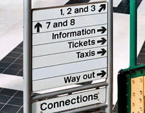 Train station sign Stock Images