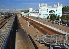 Train station in Smolensk. Russia. Royalty Free Stock Photos