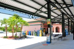 Train station in South Florida Royalty Free Stock Image