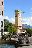 Train Station Square in Bolzano (Bozen), Italy Royalty Free Stock Image