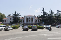 Train station and the station square of Tuapse Stock Photos