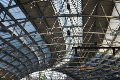 Train Station Structure Royalty Free Stock Photos