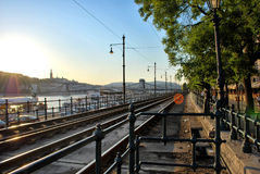 Train station. Sunny train station in Spain stock images