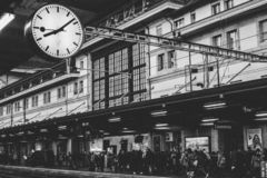 Train station switzerland stock image