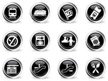 Train station symbols Stock Photo