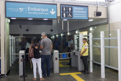 Train station to the Olympics is inaugurated by Rio's Governor Royalty Free Stock Images