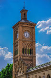 Train station tower. Toledo, Spain Royalty Free Stock Image