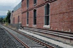 Train station & tracks Stock Photo