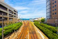 Train Station Tracks Hida-Takayama Daytime H Stock Image