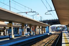 Train station in Treviso, Italy Stock Images