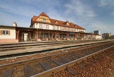 Train station in Uherske Hradiste Royalty Free Stock Images