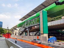 The train station mega project under construction stock photography