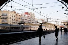 Train Station Valencia Royalty Free Stock Images