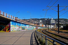 Train station in Valparaiso, Chile Royalty Free Stock Images