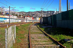 Train station in Valparaiso, Chile Royalty Free Stock Photography