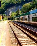Train station in Varenna royalty free stock photography