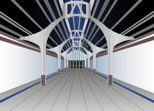 Train station vector Stock Image