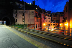 Train station in Vernazza village Royalty Free Stock Photo