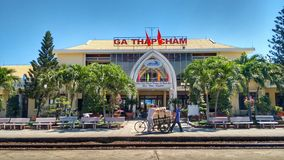 Train Station in Vietnam royalty free stock images