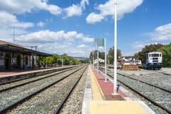 Train station village Royalty Free Stock Photos
