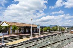 Train station village Stock Photos