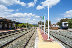 Train station village Royalty Free Stock Photos