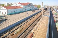 Train station Vyazma Stock Photo