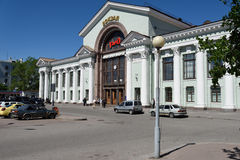 Train station of Vyborg, Leningrad oblast, Russia Stock Image