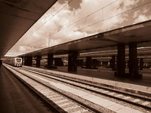 At the train Station Stock Images