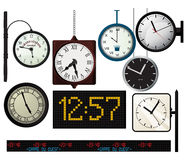 Train station watches collection Stock Photo