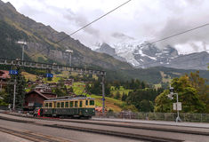 Train station of Wengen Stock Photo