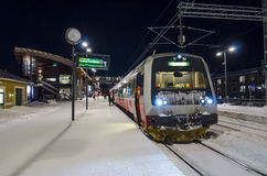 Train Are station wintertime Royalty Free Stock Image