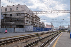 The train station in Yekaterinburg Royalty Free Stock Photos