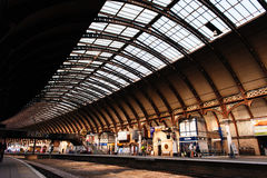 Train station in York, UK royalty free stock photos