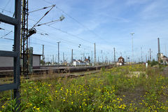 Train stations of Leipzig Stock Photo