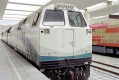train staying on the lasa railway station Royalty Free Stock Photos