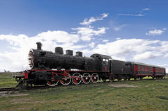 Train and steam locomotive. In Edirne, Turkey royalty free stock image