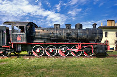 Train and steam locomotive Royalty Free Stock Photo