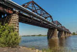 Train steel bridge Royalty Free Stock Photography