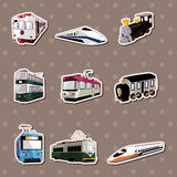 Train stickers. Cartoon vector illustration Royalty Free Stock Image