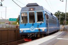 Train at Stocksund station Stock Photography