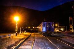 Train stop in Jim Thorpe Stock Photo